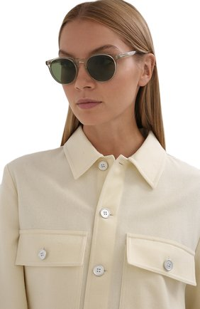 Женские солнцезащитные очки LORO PIANA светло-зеленого цвета, арт. FAL0261 | Фото 2 (Тип очков: С/з)
