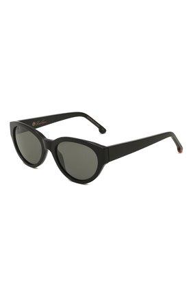 Женские солнцезащитные очки LORO PIANA черного цвета, арт. FAL4776   Фото 1