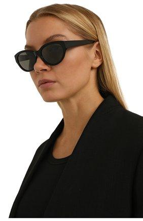 Женские солнцезащитные очки LORO PIANA черного цвета, арт. FAL4776   Фото 2