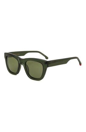 Женские солнцезащитные очки LORO PIANA темно-зеленого цвета, арт. FAL4920 | Фото 1 (Тип очков: С/з)