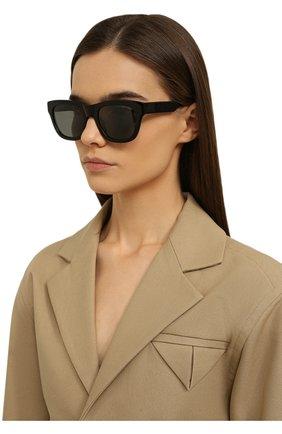 Женские солнцезащитные очки LORO PIANA черного цвета, арт. FAL4920   Фото 2
