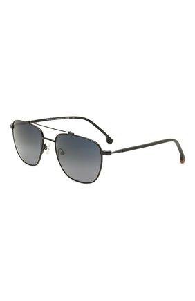 Мужские солнцезащитные очки LORO PIANA черного цвета, арт. FAL0302 | Фото 1