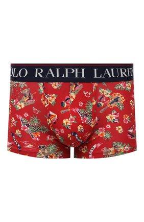 Мужские хлопковые боксеры POLO RALPH LAUREN красного цвета, арт. 714843428/002 | Фото 1 (Материал внешний: Хлопок; Кросс-КТ: бельё; Мужское Кросс-КТ: Трусы)