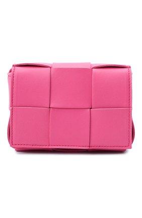 Женская сумка candy cassette BOTTEGA VENETA розового цвета, арт. 666688/VMAY1 | Фото 1 (Материал: Натуральная кожа; Размер: mini; Сумки-технические: Сумки через плечо; Ремень/цепочка: На ремешке)