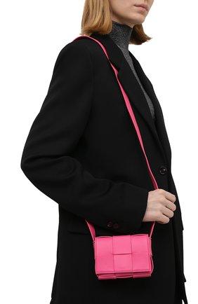 Женская сумка candy cassette BOTTEGA VENETA розового цвета, арт. 666688/VMAY1 | Фото 2 (Материал: Натуральная кожа; Размер: mini; Сумки-технические: Сумки через плечо; Ремень/цепочка: На ремешке)