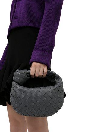 Женская сумка jodie mini BOTTEGA VENETA серого цвета, арт. 651876/VCPP5 | Фото 2 (Материал: Натуральная кожа; Размер: mini; Сумки-технические: Сумки top-handle)