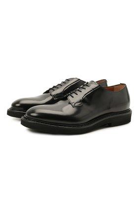 Мужские кожаные дерби PREMIATA черного цвета, арт. 31932/REAL | Фото 1 (Материал внутренний: Натуральная кожа; Стили: Классический)