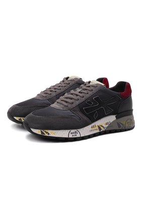Мужские комбинированные кроссовки mick PREMIATA темно-серого цвета, арт. MICK/VAR5355 | Фото 1