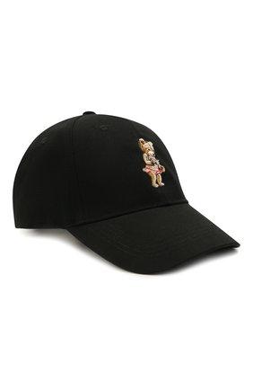Мужской хлопковая бейсболка DOMREBEL черного цвета, арт. MSNAP/CAP | Фото 1