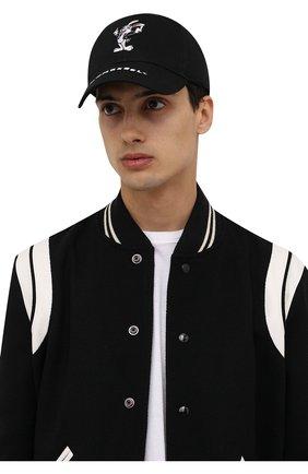 Мужской хлопковая бейсболка DOMREBEL черного цвета, арт. MRABBIT/CAP | Фото 2