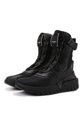 Мужские комбинированные кроссовки b-army BALMAIN черного цвета, арт. WM1VG231/LSCV | Фото 1