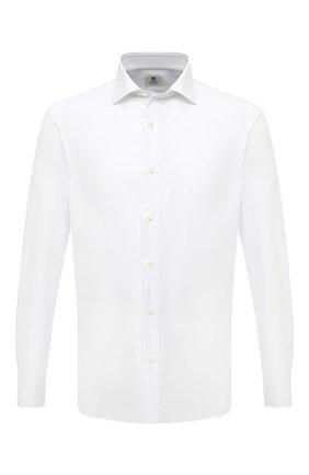 Мужская хлопковая сорочка LUIGI BORRELLI белого цвета, арт. PS30060/LUCIAN0/ST/EV/PC | Фото 1