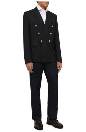 Мужская хлопковая сорочка LUIGI BORRELLI белого цвета, арт. PS30060/LUCIAN0/ST/EV/PC | Фото 2