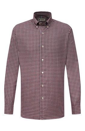 Мужская хлопковая рубашка LUIGI BORRELLI бордового цвета, арт. SR1171/RALPH/BD/EV/PC | Фото 1