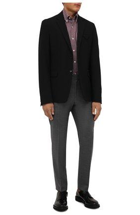 Мужская хлопковая рубашка LUIGI BORRELLI бордового цвета, арт. SR1171/RALPH/BD/EV/PC | Фото 2