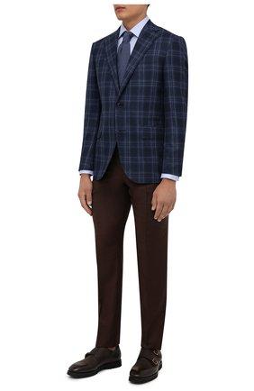 Мужская хлопковая сорочка CORNELIANI голубого цвета, арт. 88P010-1811264/00 | Фото 2