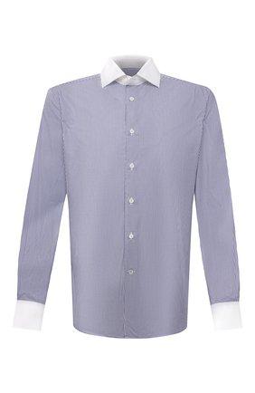 Мужская хлопковая сорочка CORNELIANI темно-синего цвета, арт. 88P110-1811270/00 | Фото 1