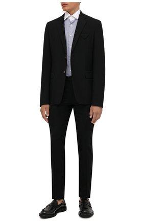 Мужская хлопковая сорочка CORNELIANI темно-синего цвета, арт. 88P110-1811270/00 | Фото 2