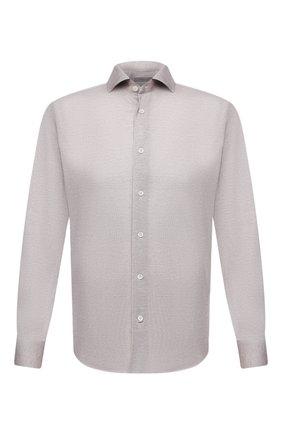 Мужская хлопковая рубашка CORNELIANI бежевого цвета, арт. 88P112-1811213/00 | Фото 1