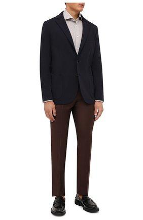 Мужская хлопковая рубашка CORNELIANI бежевого цвета, арт. 88P112-1811213/00 | Фото 2