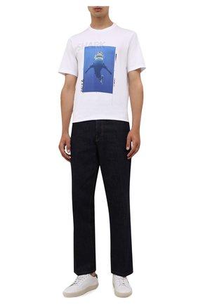 Мужская хлопковая футболка PAUL&SHARK белого цвета, арт. 11311662/C00 | Фото 2 (Материал внешний: Хлопок; Принт: С принтом; Рукава: Короткие; Стили: Кэжуэл; Длина (для топов): Стандартные)