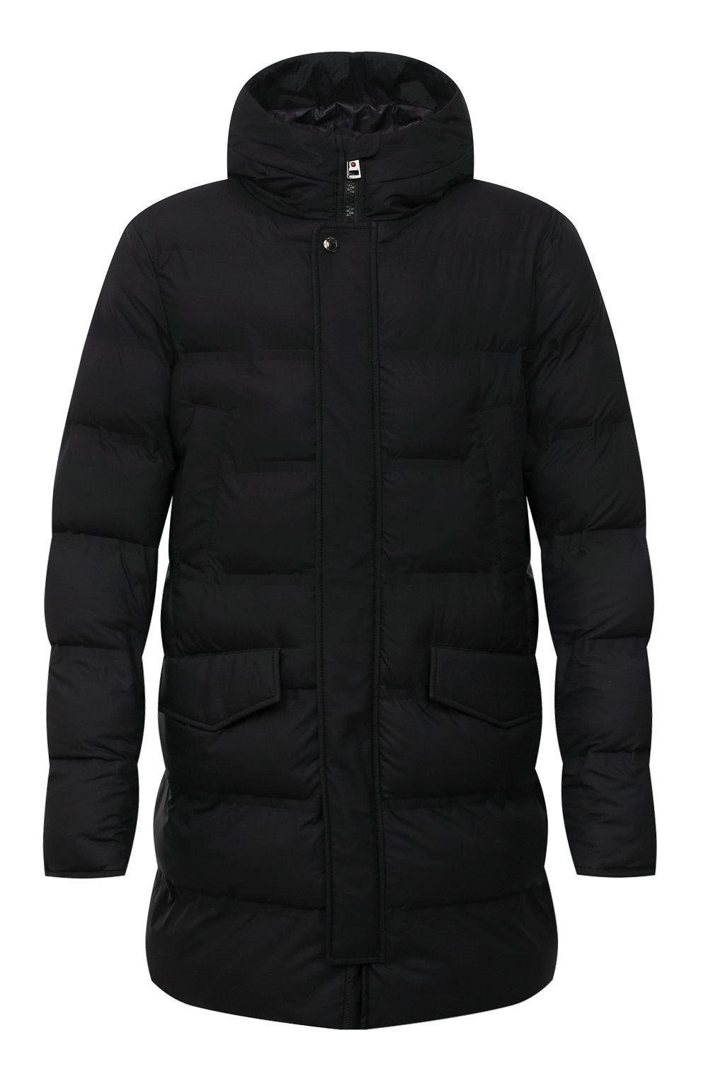 Мужская утепленная куртка KIRED черного цвета, арт. WSUKW7408505000 | Фото 1 (Кросс-КТ: Куртка; Мужское Кросс-КТ: пуховик-короткий; Рукава: Длинные; Длина (верхняя одежда): До середины бедра; Материал внешний: Синтетический материал; Материал подклада: Синтетический материал; Стили: Кэжуэл)