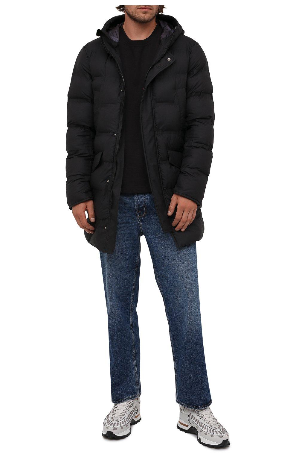 Мужская утепленная куртка KIRED черного цвета, арт. WSUKW7408505000 | Фото 2 (Кросс-КТ: Куртка; Мужское Кросс-КТ: пуховик-короткий; Рукава: Длинные; Длина (верхняя одежда): До середины бедра; Материал внешний: Синтетический материал; Материал подклада: Синтетический материал; Стили: Кэжуэл)