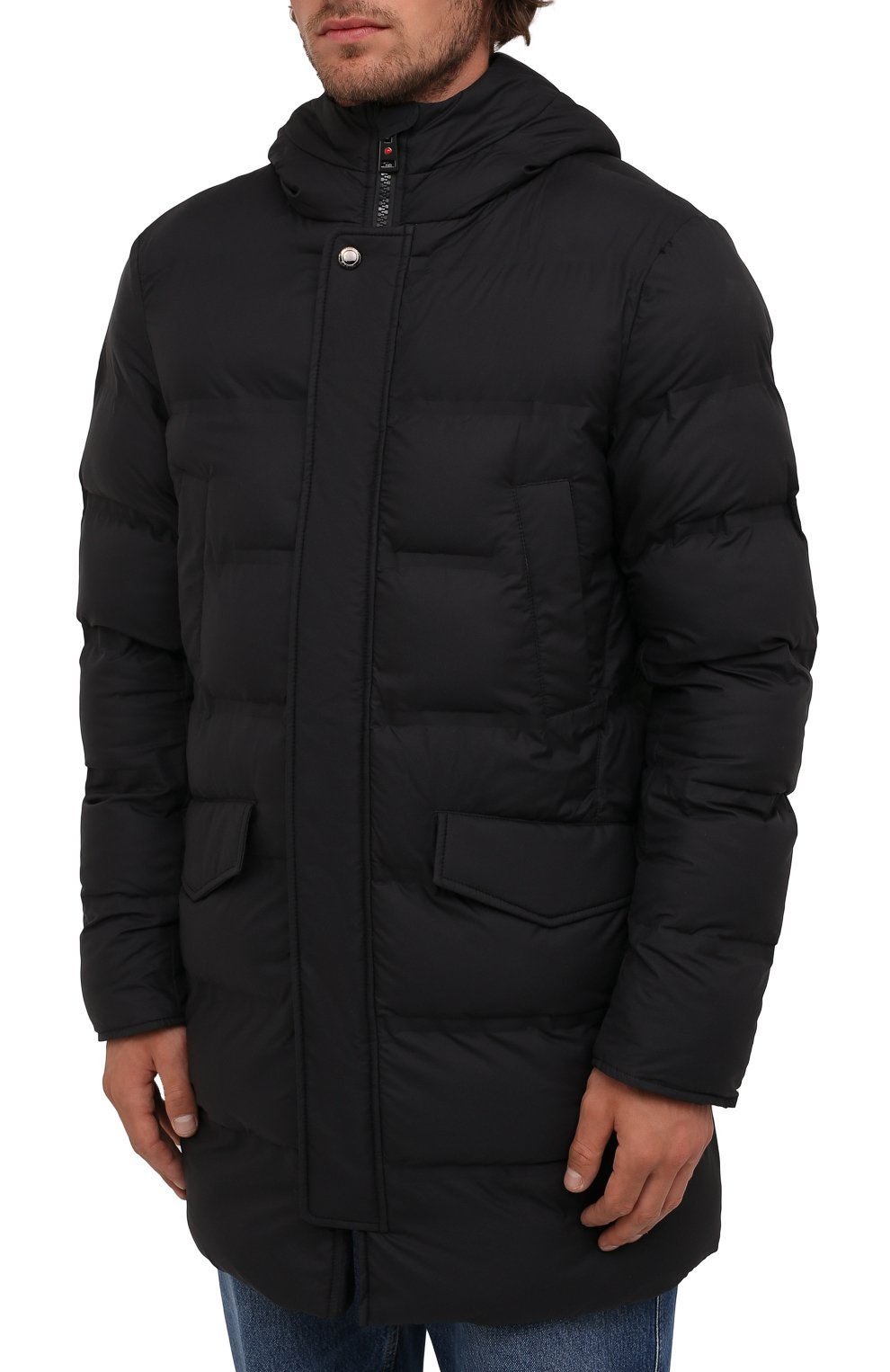 Мужская утепленная куртка KIRED черного цвета, арт. WSUKW7408505000 | Фото 3 (Кросс-КТ: Куртка; Мужское Кросс-КТ: пуховик-короткий; Рукава: Длинные; Длина (верхняя одежда): До середины бедра; Материал внешний: Синтетический материал; Материал подклада: Синтетический материал; Стили: Кэжуэл)