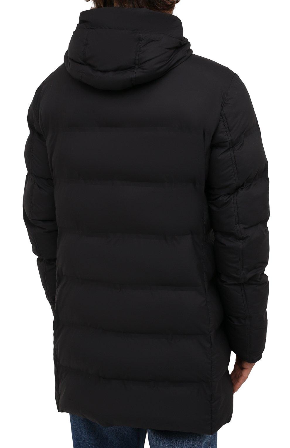 Мужская утепленная куртка KIRED черного цвета, арт. WSUKW7408505000 | Фото 4 (Кросс-КТ: Куртка; Мужское Кросс-КТ: пуховик-короткий; Рукава: Длинные; Длина (верхняя одежда): До середины бедра; Материал внешний: Синтетический материал; Материал подклада: Синтетический материал; Стили: Кэжуэл)