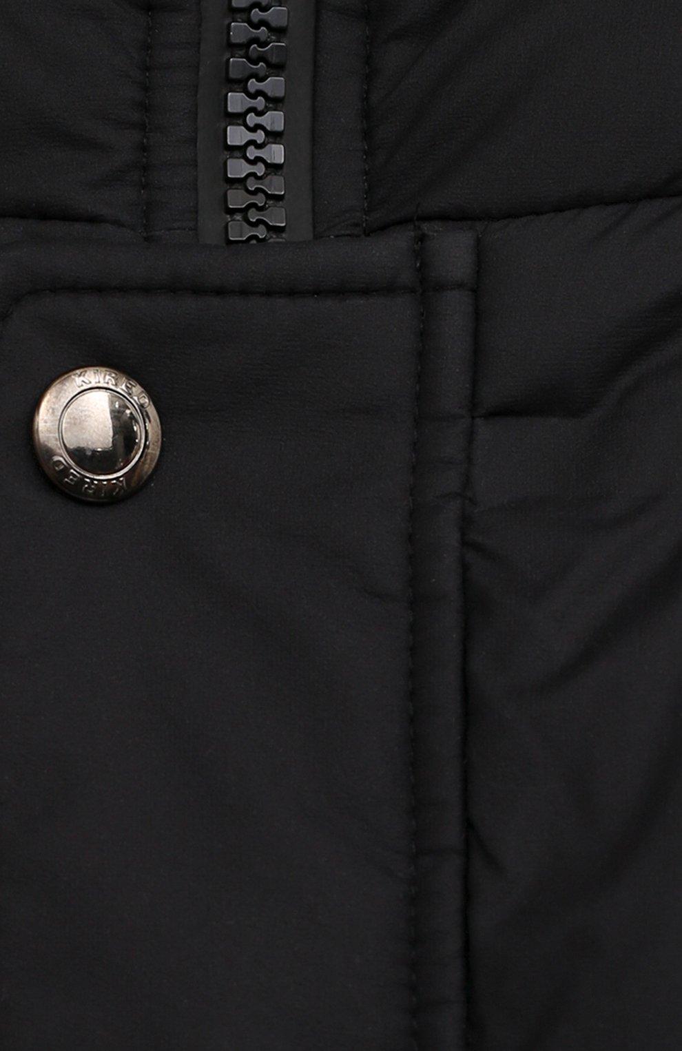 Мужская утепленная куртка KIRED черного цвета, арт. WSUKW7408505000 | Фото 5 (Кросс-КТ: Куртка; Мужское Кросс-КТ: пуховик-короткий; Рукава: Длинные; Длина (верхняя одежда): До середины бедра; Материал внешний: Синтетический материал; Материал подклада: Синтетический материал; Стили: Кэжуэл)