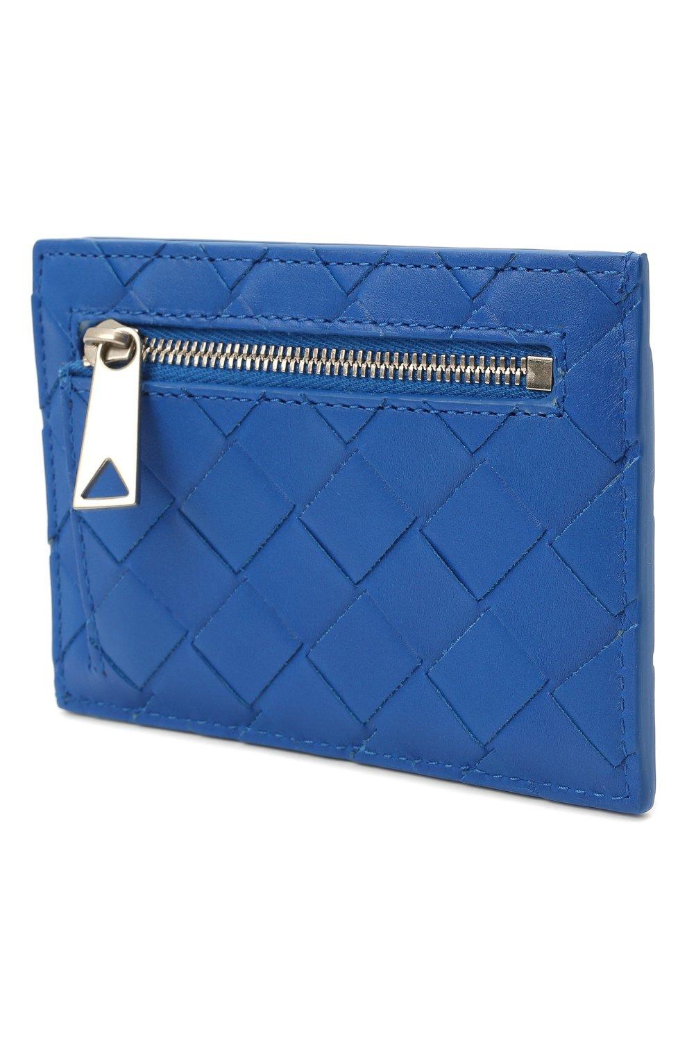 Мужской кожаный футляр для кредитных карт BOTTEGA VENETA синего цвета, арт. 650527/VCPQ3 | Фото 5