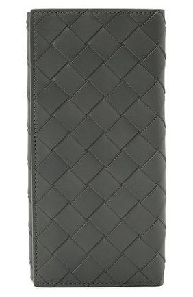 Мужской кожаное портмоне BOTTEGA VENETA серого цвета, арт. 635567/VCPQ4   Фото 1