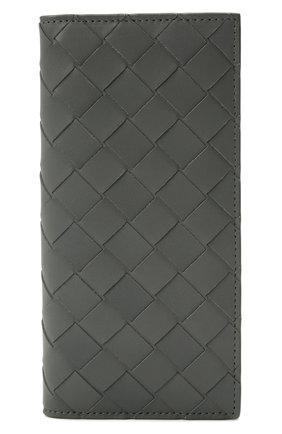 Мужской кожаное портмоне BOTTEGA VENETA серого цвета, арт. 635077/VCPQ4   Фото 1