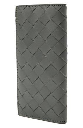 Мужской кожаное портмоне BOTTEGA VENETA серого цвета, арт. 635077/VCPQ4   Фото 2