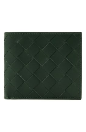 Мужской кожаное портмоне BOTTEGA VENETA темно-зеленого цвета, арт. 605721/VCPQ6 | Фото 1