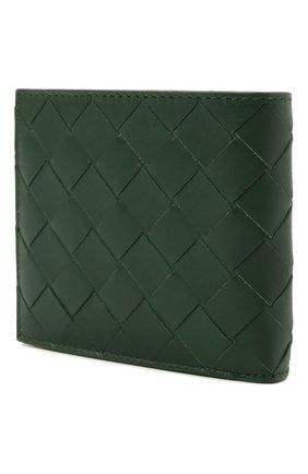 Мужской кожаное портмоне BOTTEGA VENETA темно-зеленого цвета, арт. 605721/VCPQ6 | Фото 2