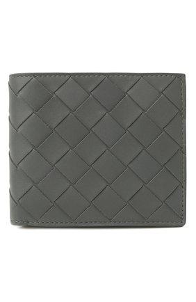 Мужской кожаное портмоне BOTTEGA VENETA серого цвета, арт. 605721/VCPQ4   Фото 1