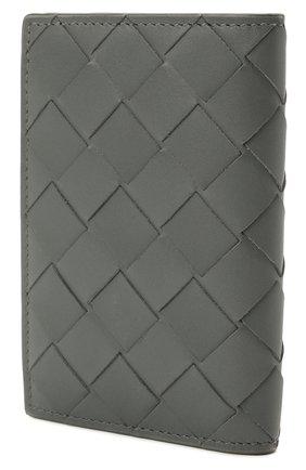 Мужской кожаный футляр для кредитных карт BOTTEGA VENETA серого цвета, арт. 592619/VCPQ4 | Фото 2