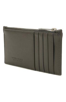 Мужской кожаный футляр для кредитных карт BOTTEGA VENETA хаки цвета, арт. 667049/VBWD3 | Фото 2