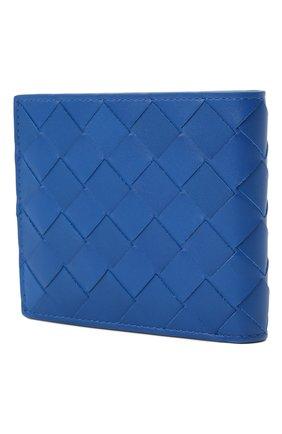 Мужской кожаное портмоне BOTTEGA VENETA синего цвета, арт. 605721/VCPQ4   Фото 2