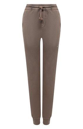 Женские хлопковые джоггеры DANIILBERG темно-бежевого цвета, арт. DBFW2016   Фото 1 (Материал внешний: Хлопок; Стили: Спорт-шик; Женское Кросс-КТ: Джоггеры - брюки, Брюки-спорт; Силуэт Ж (брюки и джинсы): Джоггеры; Длина (брюки, джинсы): Стандартные)