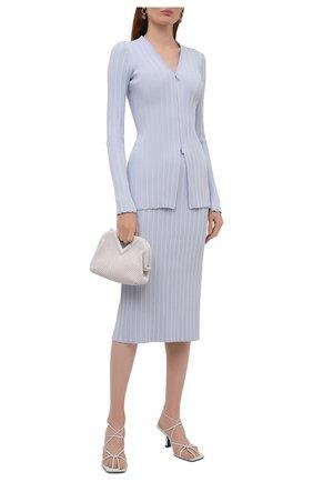 Женская юбка из вискозы PROENZA SCHOULER WHITE LABEL светло-голубого цвета, арт. WL2137650-KY227 | Фото 2