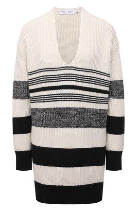 Женский свитер из хлопка и кашемира PROENZA SCHOULER WHITE LABEL черно-белого цвета, арт. WL2137647-KC090 | Фото 1
