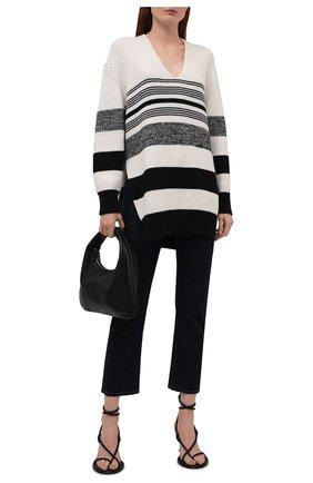 Женский свитер из хлопка и кашемира PROENZA SCHOULER WHITE LABEL черно-белого цвета, арт. WL2137647-KC090 | Фото 2