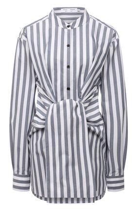 Женская хлопковая рубашка PROENZA SCHOULER WHITE LABEL серо-голубого цвета, арт. WL2134238-AC123 | Фото 1