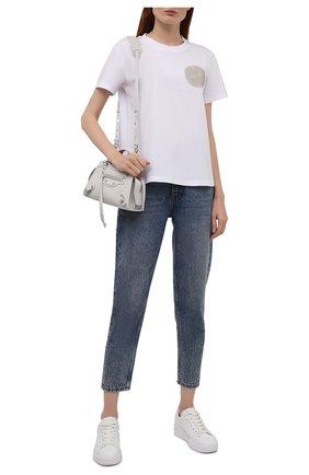 Женская хлопковая футболка EMPORIO ARMANI белого цвета, арт. 6K2T7X/2J95Z   Фото 2