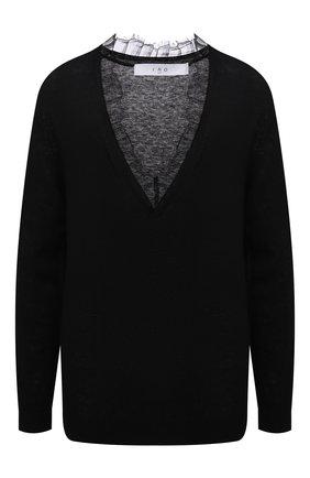 Женский пуловер из шерсти и шелка IRO черного цвета, арт. WP12HABY | Фото 1