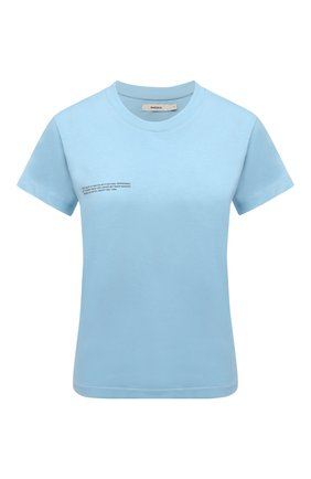Мужского хлопковая футболка PANGAIA голубого цвета, арт. 20JTF11-011-JM001 | Фото 1