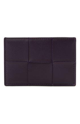 Женский кожаный футляр для кредитных карт BOTTEGA VENETA темно-фиолетового цвета, арт. 651401/VCQC4 | Фото 1