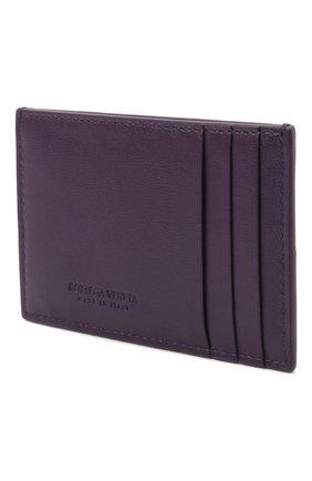 Женский кожаный футляр для кредитных карт BOTTEGA VENETA темно-фиолетового цвета, арт. 651401/VCQC4 | Фото 2
